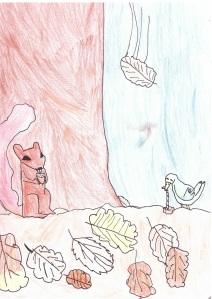 dessin ecureuil paint