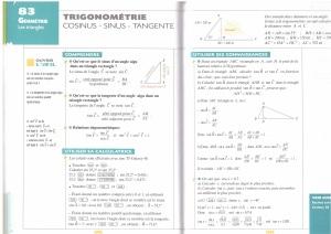 Trigonométrie 3e
